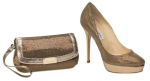 2b_JIMMY CHOO 247 COSMIC IN BRONZE GLITTER FABRIC AND ZETA BRONZE GLITTER FABRIC CLUTCH