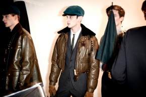 backstage at Burberry Prorsum Menswear fw201213 (29)